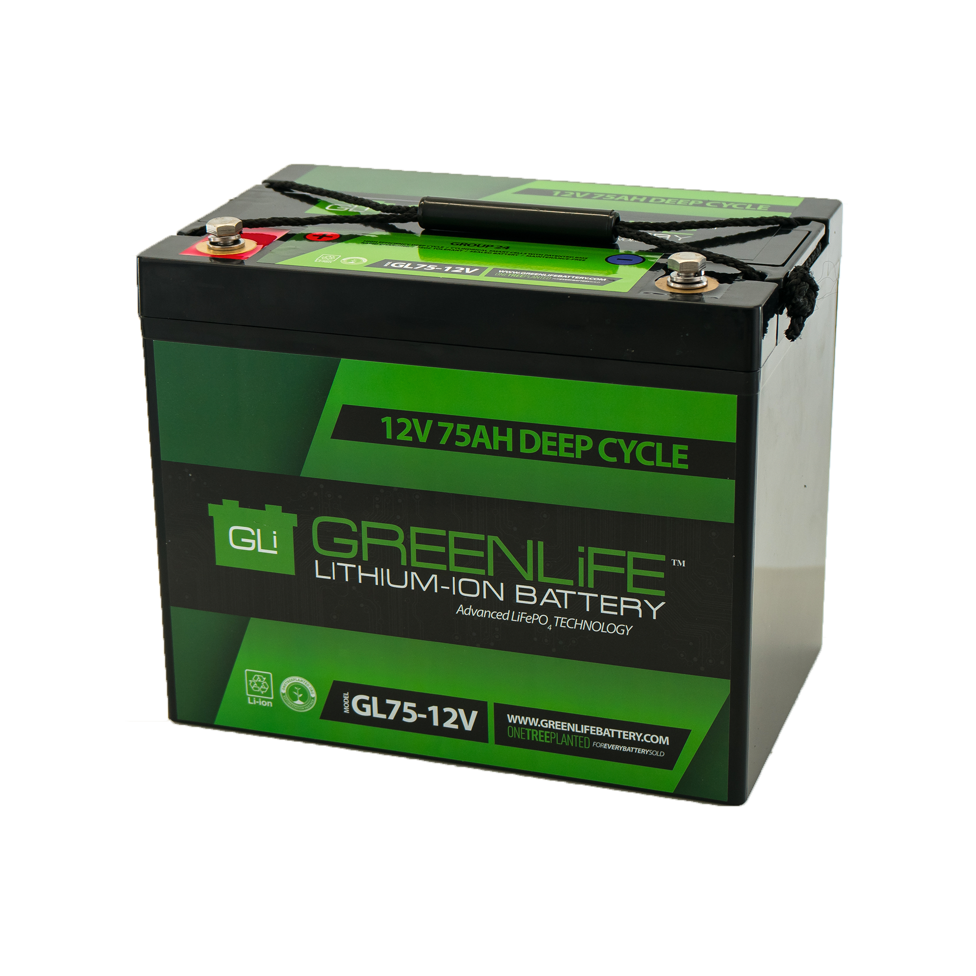 Lithium Ion Battery >> Greenlife Gl75 12v 75a Lithium Ion Battery
