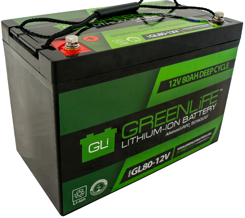 Lithium Ion Car Battery >> Greenlife Gl80 12v 80a Lithium Ion Battery